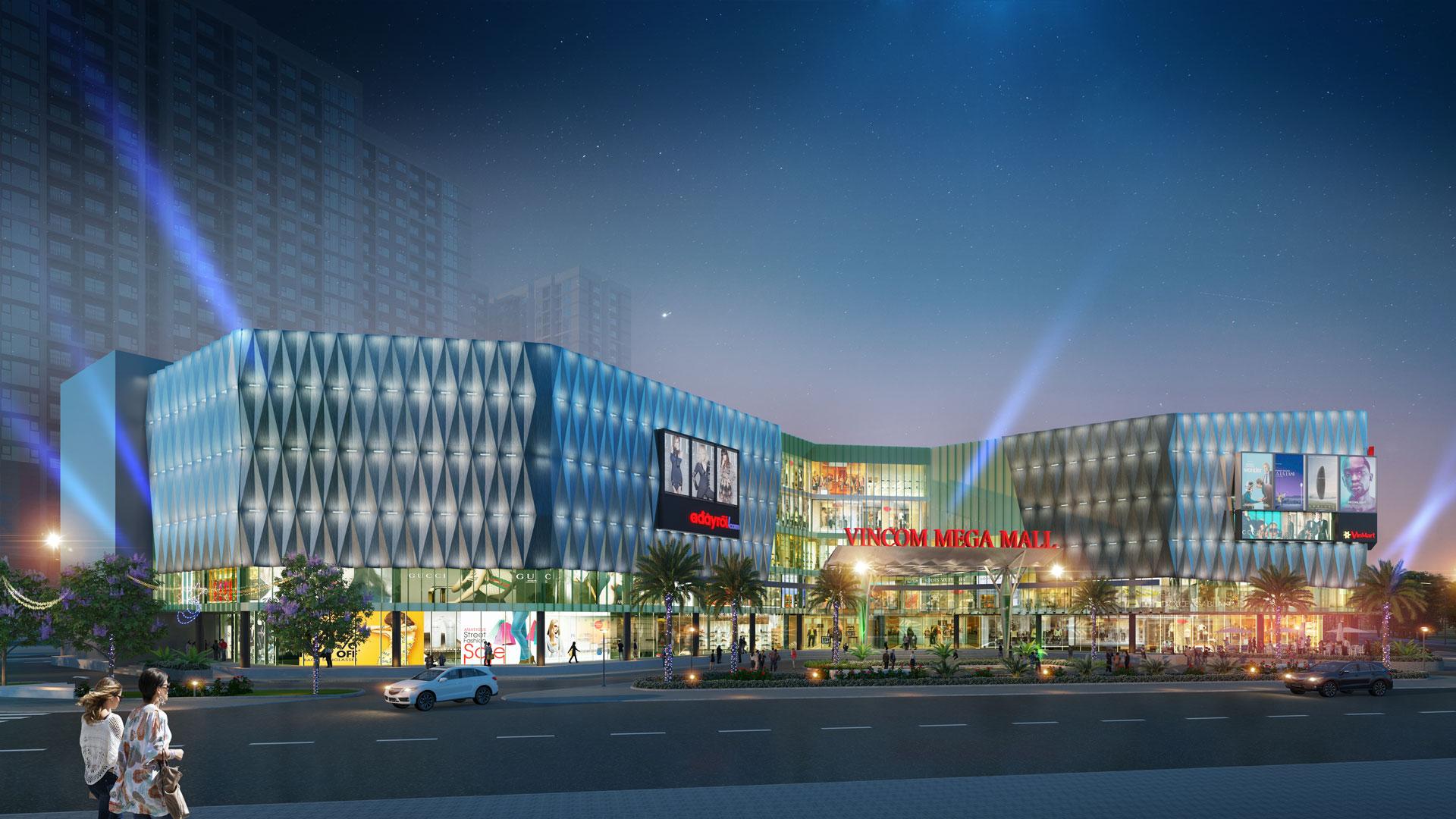 Trung tâm thương mại Vincom Mega Mall sầm uất nhất phía Nam