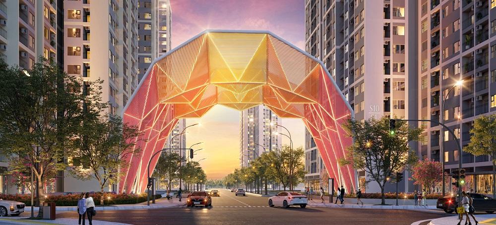Cổng chào phân khu The Origami Vinhomes Grand Park độc đáo