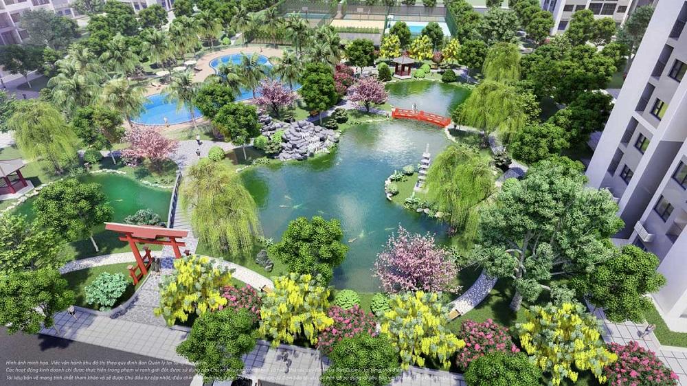 Vườn Nhật Vinhomes Grand Park có diện tích lên đến 6.800m2
