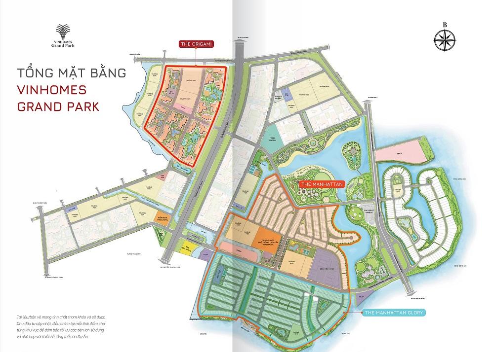 Tổng mặt bằng dự án Vinhomes Grand Park Quận 9