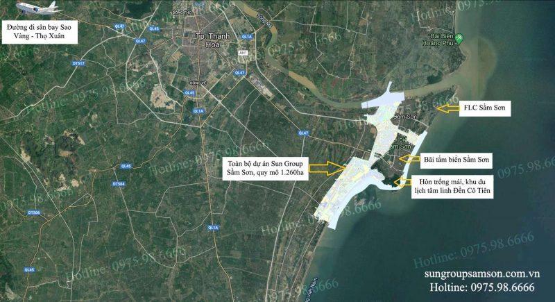 Vị trí siêu đắc đia của dự án Sun Group Sầm Sơn Thanh Hóa