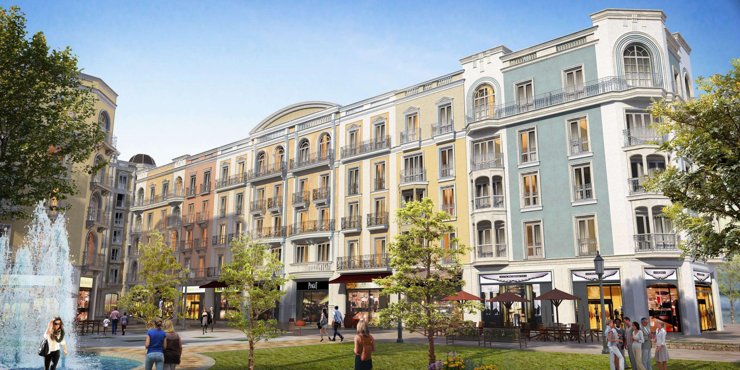 Sun Grand Boulevard có kiến trúc phong cách thành phố Barcelona Tây Ban Nha