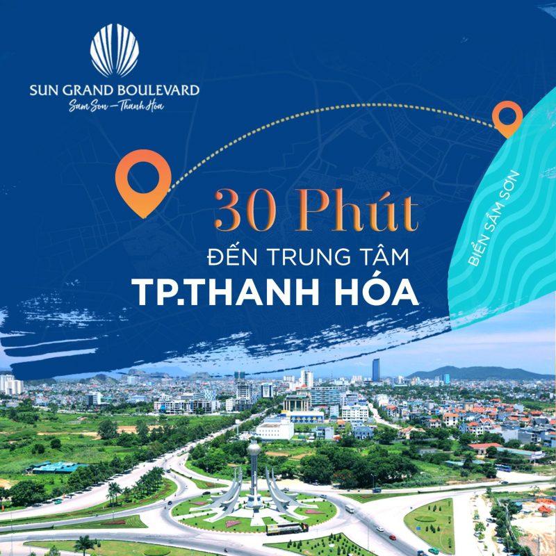 Sun Group Sầm Sơn chỉ cách thành phố Thanh Hóa 30 phút di chuyển