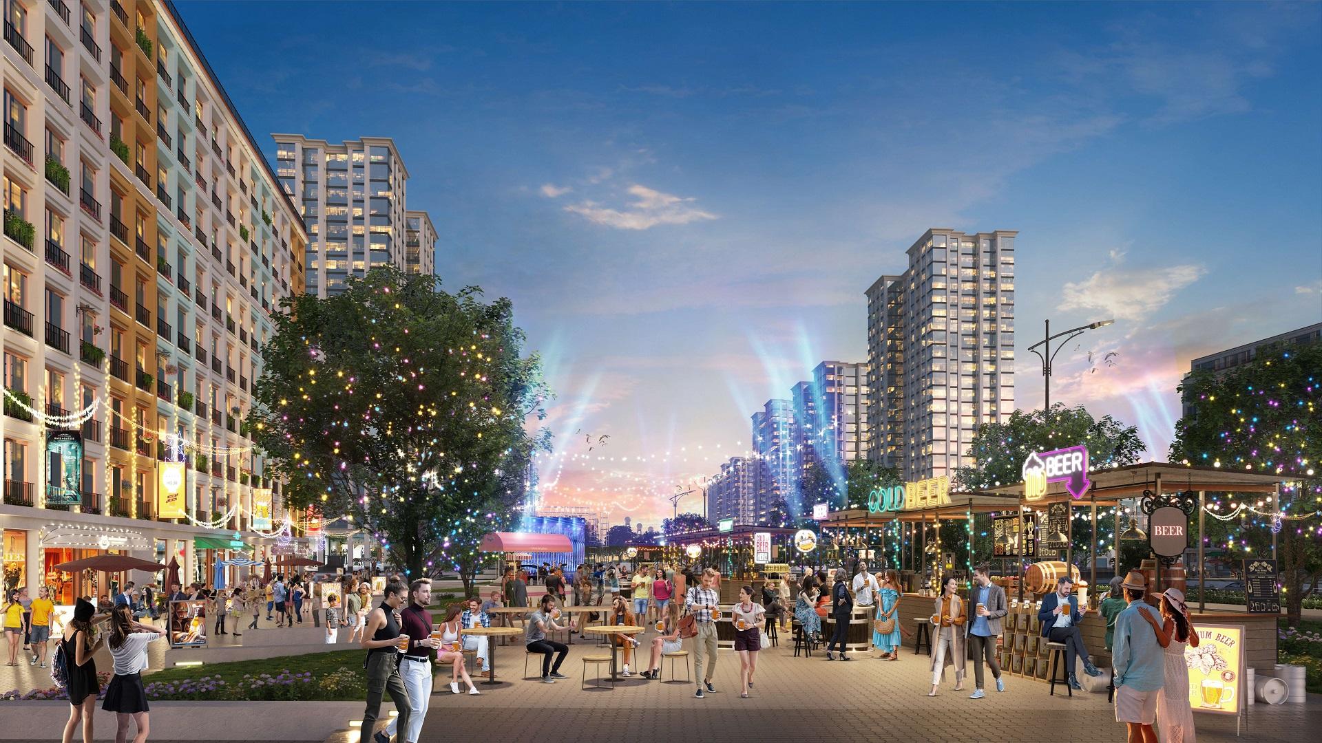 Tại Sun Grand Boulevard các lễ hội sẽ được diễn ra ngày và đêm, bất kể mùa đông hay mùa hè