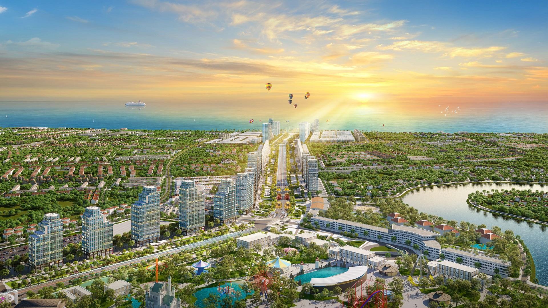 Phối cảnh ban ngày dự án Sun Grand Boulevard Sầm Sơn