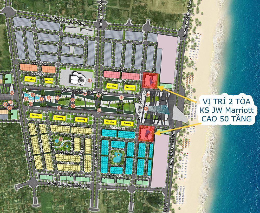 Vị trí dự kiến của khách sạn JW Marriott Sầm Sơn