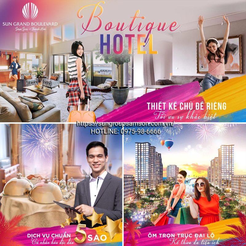 Boutique Hotel là dòng sản phẩm cao cấp sắp ra mắt tại dự án Sun Grand Boulevard