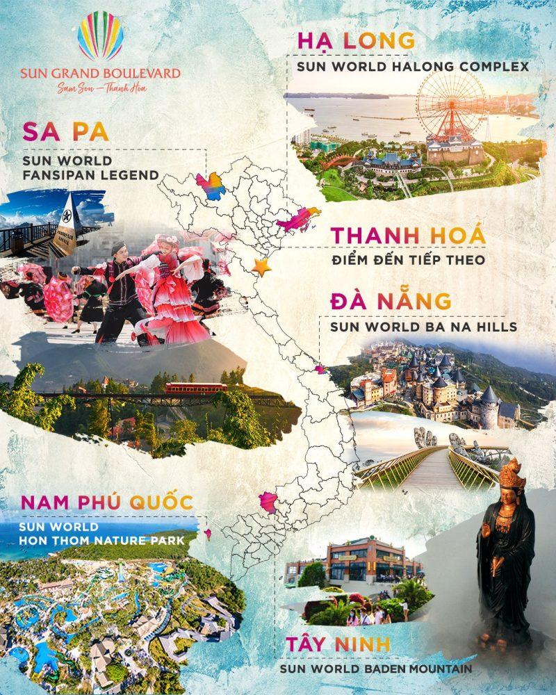 Các dự án của Sun Group trải dài khắp cả nước