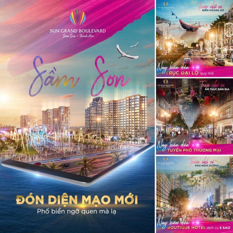 Sầm Sơn sẽ mang diện mạo mới khi có sự xuất hiện của đại đô thị nghỉ dưỡng Sun Grand Boulevard