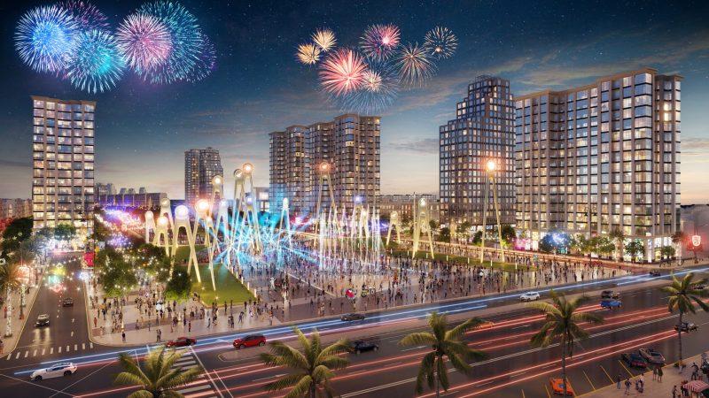 Ảnh phối cảnh quảng trường Sun Grand Boulevard Sầm Sơn