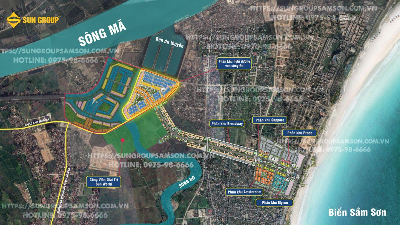 Vị trí phân khu biệt thự ven sông Đơ sắp mở bán với phong cách thiết kế lấy cảm hứng từ thành phố Miami của nước Mỹ