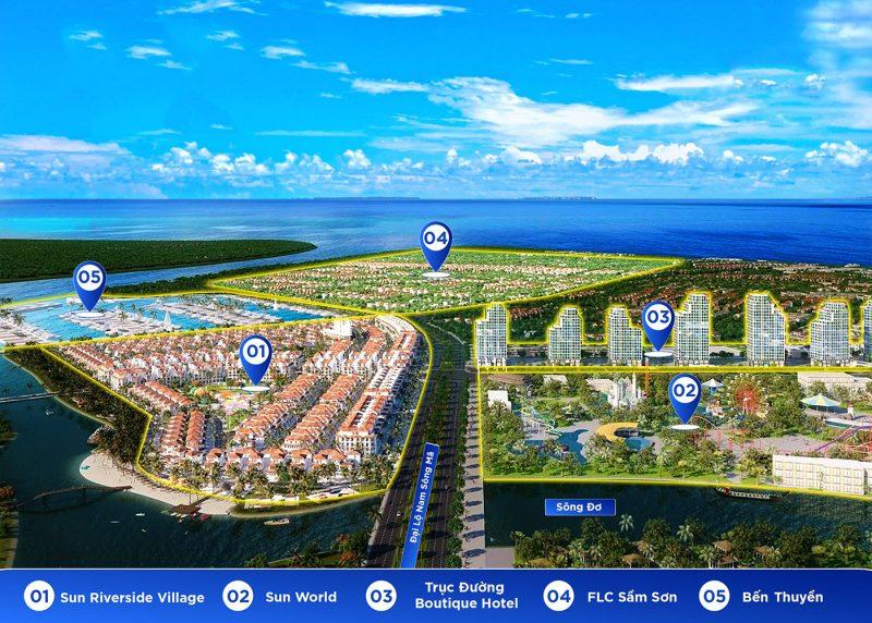 Mô tả vị trí và quy mô phân khu biệt thự ven Sông Đơ Sun Riverside Village