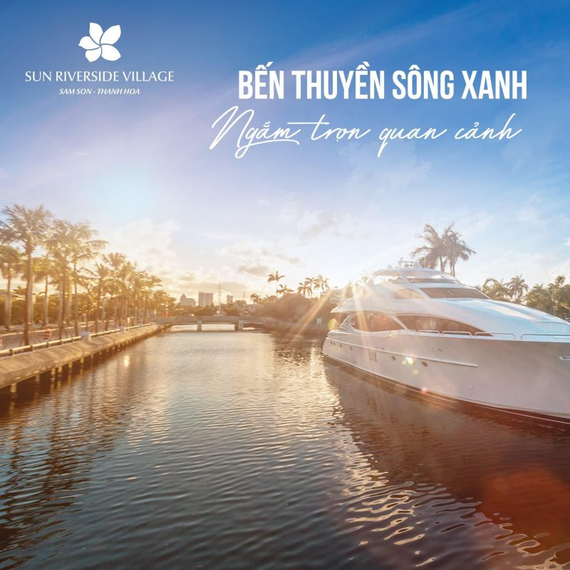 Bến thuyền sông xanh nối thẳng ra sông Mã hiền hoà